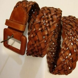 Ann Taylor leather breaded belt